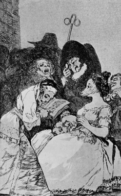 """Francisco Goya. """"Family tree"""" (a Series of """"Caprichos"""", page 57)"""