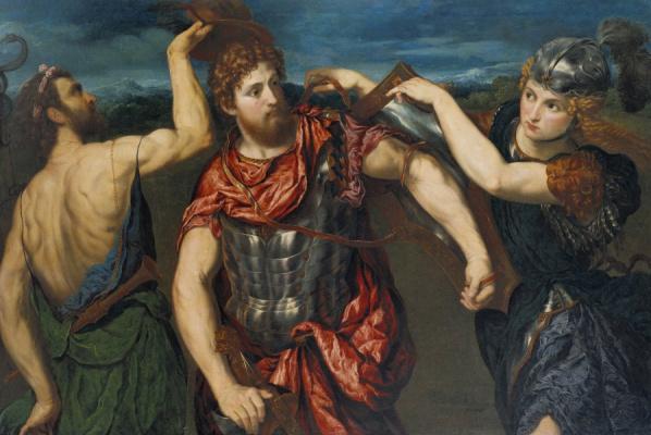 Paris Bordon. The Minerva and mercury arming Perseus