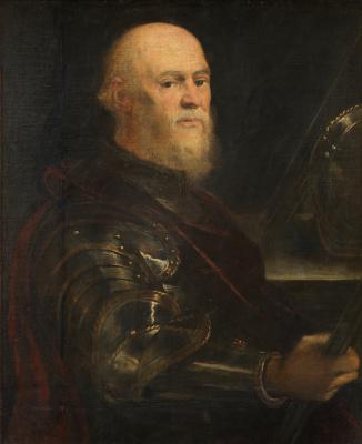 Jacopo Tintoretto. Portrait of the Venetian Admiral
