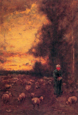 George Innes. The end of the day in Montclair