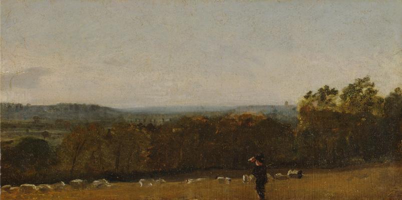 John Constable. A Shepherd in a Landscape