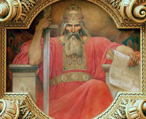 Jules Joseph Lefebvre. Charles the Great, King of the Franks (768-814)