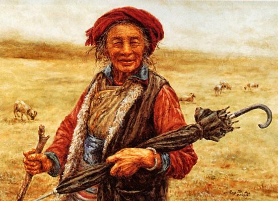 Донна Донхонг Чжан. Пожилая женщина