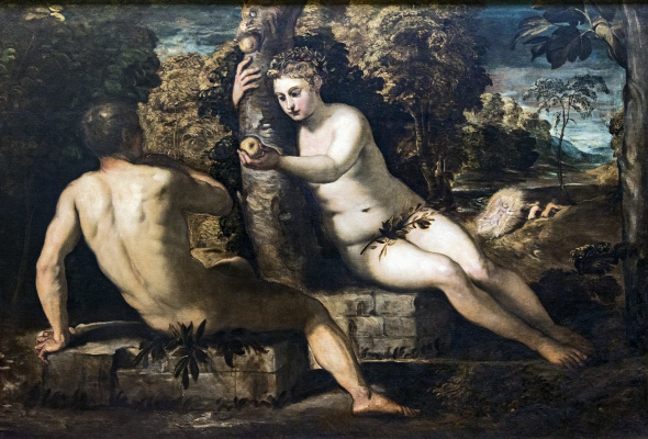 Jacopo Tintoretto. The Temptation Of Adam