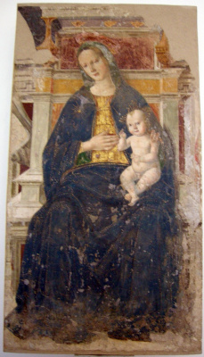 Джованни Санти. Мадонна с младенцем