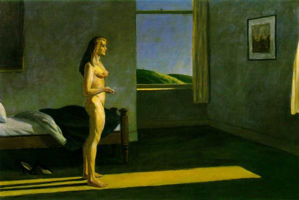 Женщина в лучах солнца