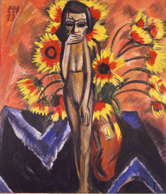 Erich Heckel. Still life with wooden statuette