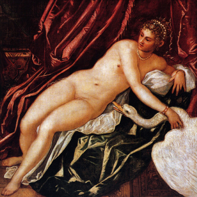 Jacopo (Robusti) Tintoretto. Ice and swan