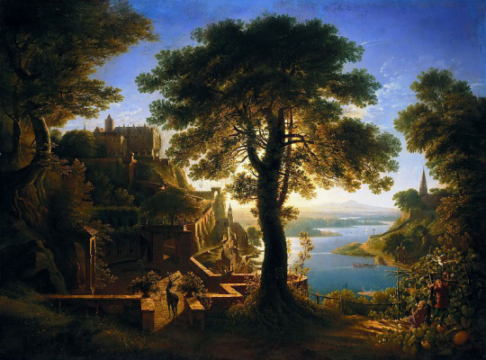 Карл-Фридрих Шинкель. Замок на берегу реки