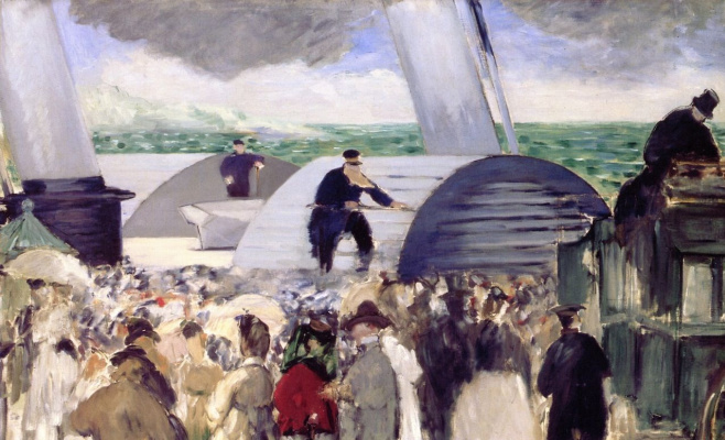 Edouard Manet. Departure from Folkestone