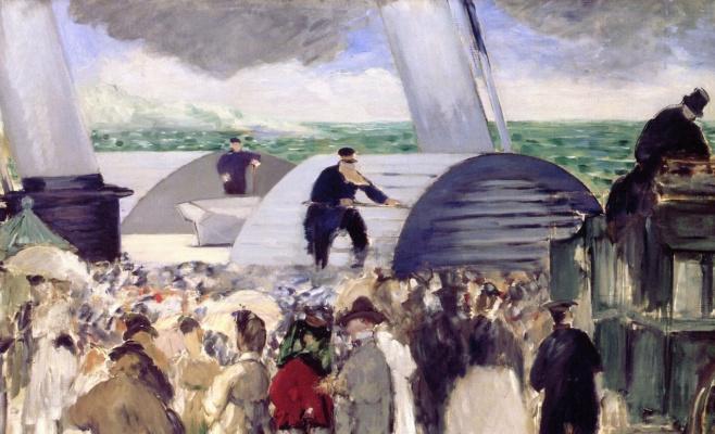 Edouard Manet. Departure from Folkestone