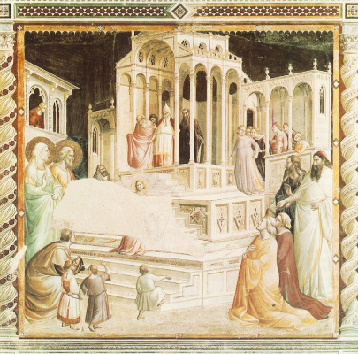Taddeo Gaddi. Mary in the temple