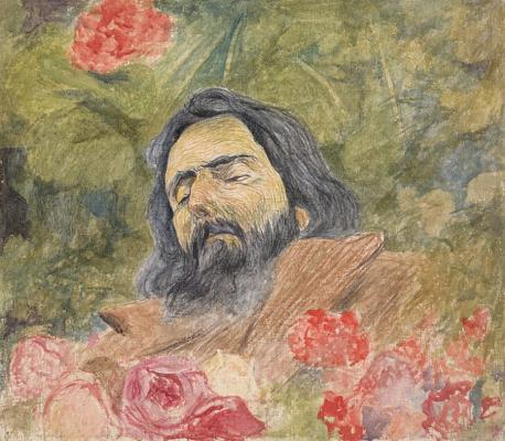 Giovanni Giacometti. Giovanni Segantini on his death bed