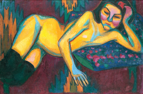 Sonia Delaunay. Nude in yellow