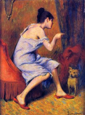 Федерико Дзандоменеги. Девушка и её пёс