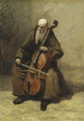 Camille Corot. Monk with a Cello