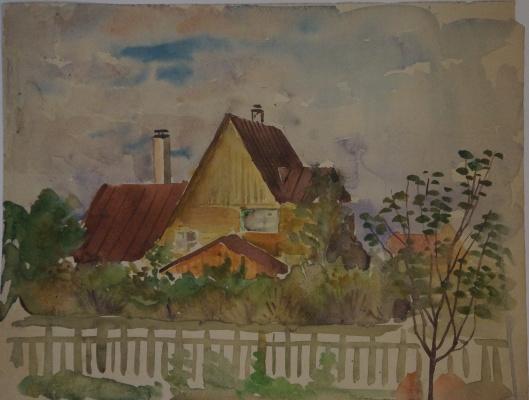 Alexandra Antonovna Gladun. House in Sokol