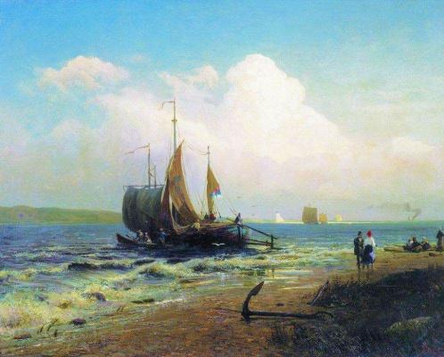 Fedor Alexandrovich Vasilyev. On the river. Windy day