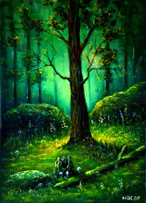 Наджаф Мамедов. В лесу