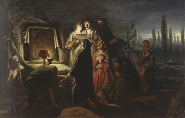 Vasily Grigorievich Perov. First Christians in Kiev