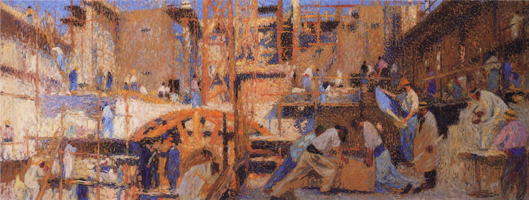 Henri Martin. Workers