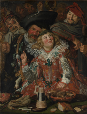 France Hals. Shrovetide Revellers (The Merry Company)