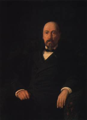 Nikolai Nikolaevich Ge. Portrait of poet N.. Nekrasov