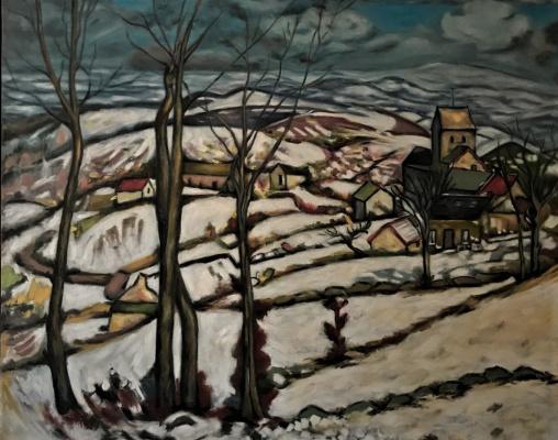 """Inga Kotlyarskaya. Free copy of Louis Charlot """"Village in the Snow"""""""