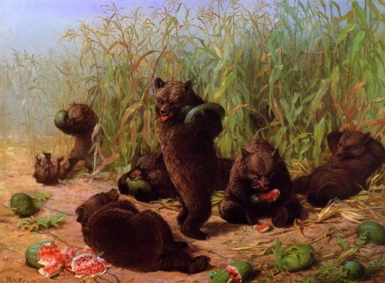 Уильям Холбрук Берд. Медведи и арбузы