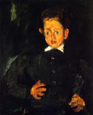 Chaim Soutine. The boy in green coat