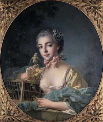 Francois Boucher. Portrait of the artist's daughter in the oval