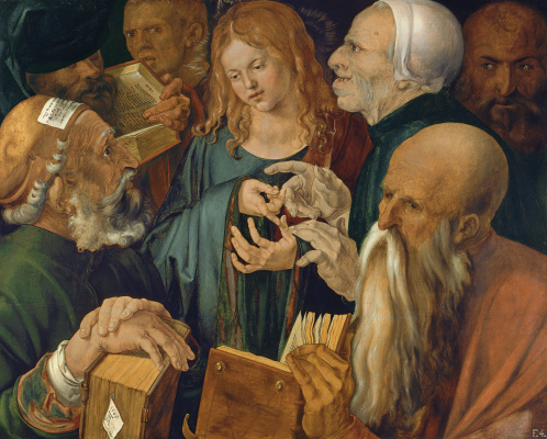 Albrecht Durer. Christ among the teachers