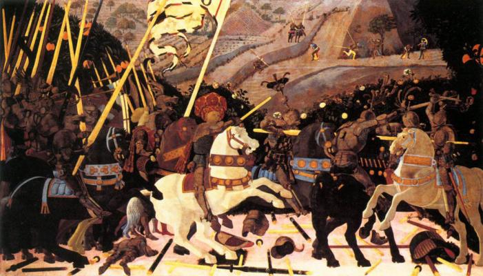 Paolo Uccello. The battle of San Romano