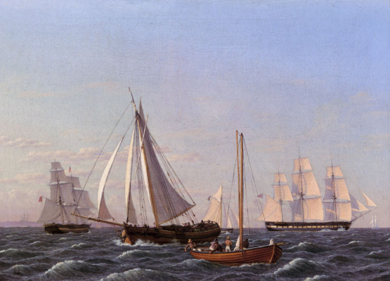 Christopher Wilhelm Eckersberg. Sailboats