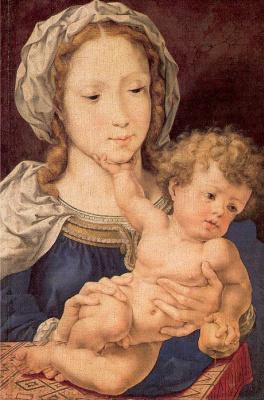 Ян Госсарт. С младенцем на руках