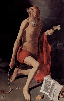 Georges de La Tour. The penitent St. Jerome