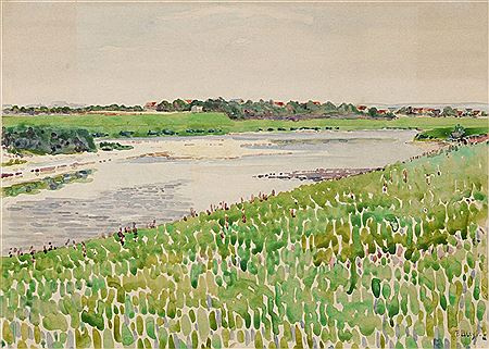 Fritz Bleuil. Summer landscape
