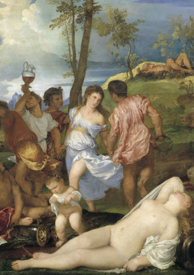 Titian Vecelli. Andriske Orgy. Fragment