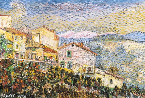 David Davidovich Burliuk. French town