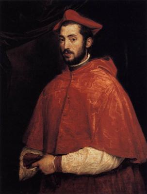 Тициан Вечеллио. Портрет кардинала Алессандро Фарнезе
