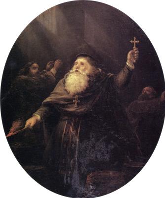 Иван Константинович Айвазовский. Взрыв Аркадионского монастыря на Крите в 1866 году