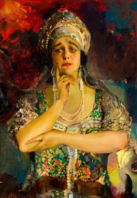 Philip Andreevich Malyavin. Portrait of the singer Nadezhda Plevitskaya