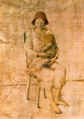 Монтсеррат Гудиол. Мать с ребенком на руках