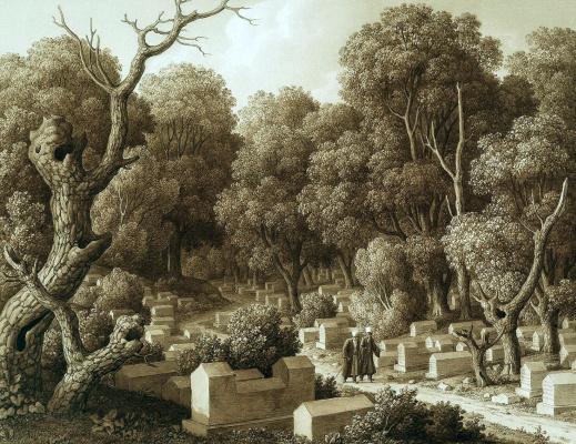 Карл фон Кюгельген. Караимское кладбище в Чуфут-Кале