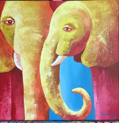 Anastasia Sergeevna Tarasenko. Elephants