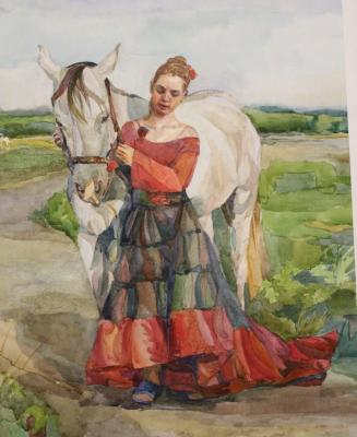 Tatyana Alexandrovna Muratova. Girl with a horse
