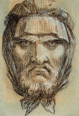 Пьер-Поль Прюдон. Голова мужчины
