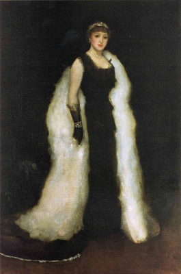 James Abbot McNeill Whistler. Arrangement in black No. 5: lady Meux