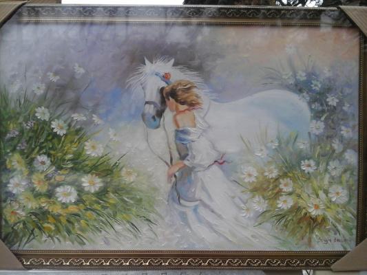 Сергей Бурлаку. Девушка и лошадь