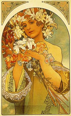 Alfons Mucha. Flower